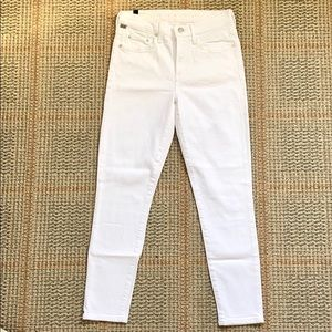 NWOT Citizen of humanity Rocket Crop white jeans